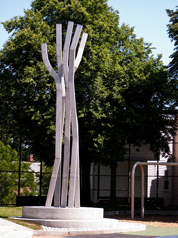 "Public Art Sculpture ""Reach"" Boston, MA Front View"
